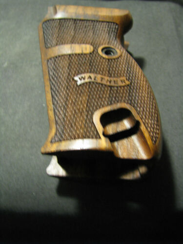 Walther P38 P1 Fine English Walnut Checkered Pistol Grips w//LEFT SIDE LOGO ONLY