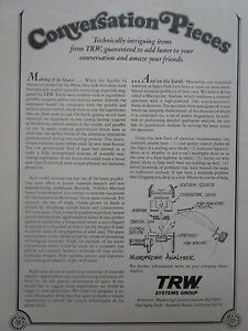 9//1972 PUB IBM FEDERAL SYSTEMS DEFENSE SPACE ESPACE MOON NASA ASTRIONICS  AD