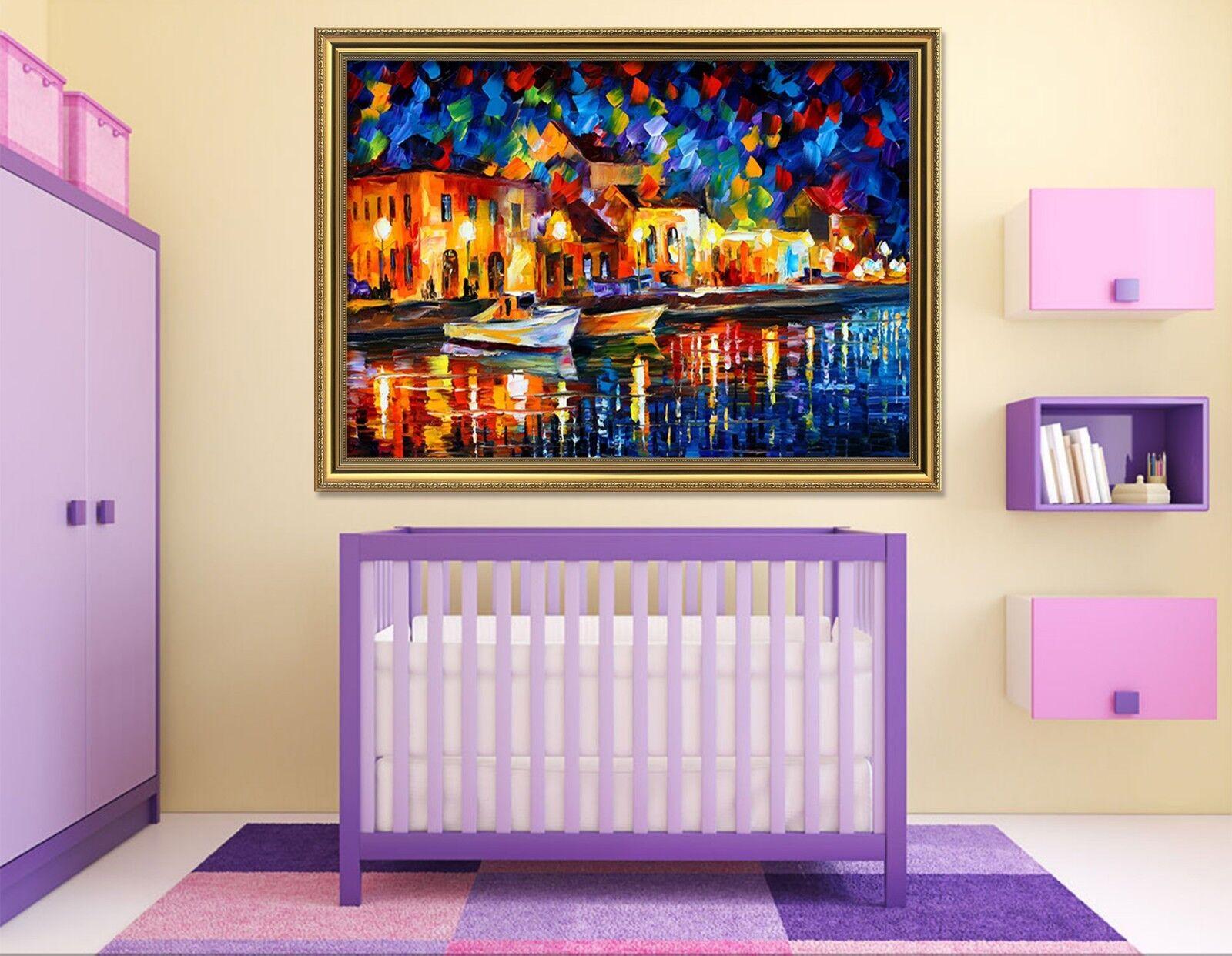 3D ciudad de agua de Venecia 1 Póster Enmarcado Decoración del Hogar Pintura de Impresión Arte AJ Wallpaper
