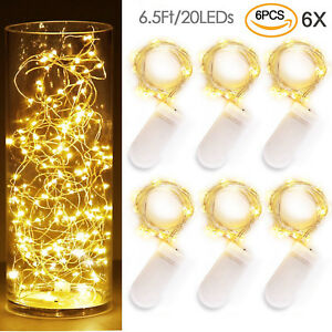 6X-20-LED-Copper-Wire-Fairy-String-Light-Xmas-Party-Battery-Powered-Waterproof-S
