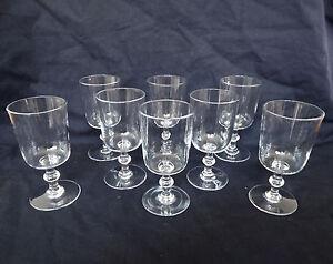 BACCARAT-6-petits-verres-a-vin-CRISTAL-taille-epoque-1840-50-18-disponibles