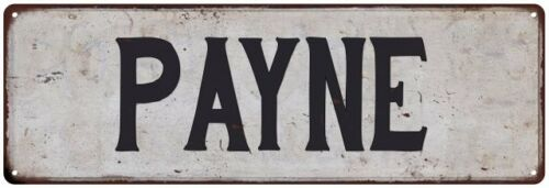 PAYNE Vintage Look Personalized Rustic Chic Metal Sign 106180036193