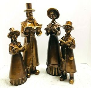 Christmas-Caroler-Family-Large-Figurines-Antique-Gold-Finish-Kirkland