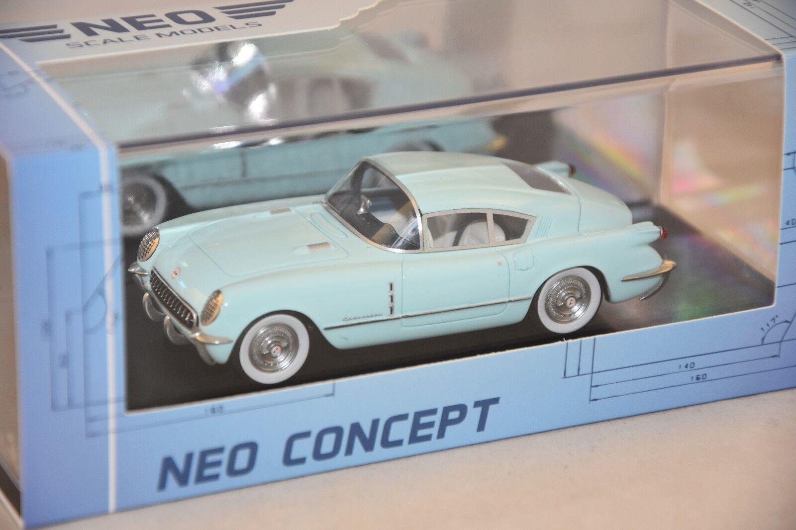 NEO 47160 - Chevrolet Corvette Corvair -konceptet blå clair - 1954 1  43