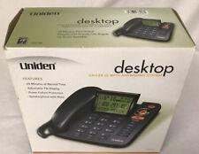 New Listingnew Uniden 1380 Bk Single Line Corded Phone Caller Id Amp Answering System Black