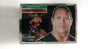 TOPPS CHROME WWE HERITAGE WWE SUPERSTAR THE ROCK #10                / 2006 Topps
