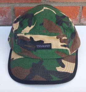 cf3875dbcdbdd Trukfit Box Logo 5 Panel Camo Flat Bill Adjustable Strapback Hat Cap ...