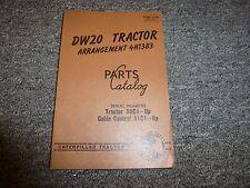 Caterpillar Cat DW20 Tractor 4H1383 Arrangement Parts Catalog Manual 50C & 51C