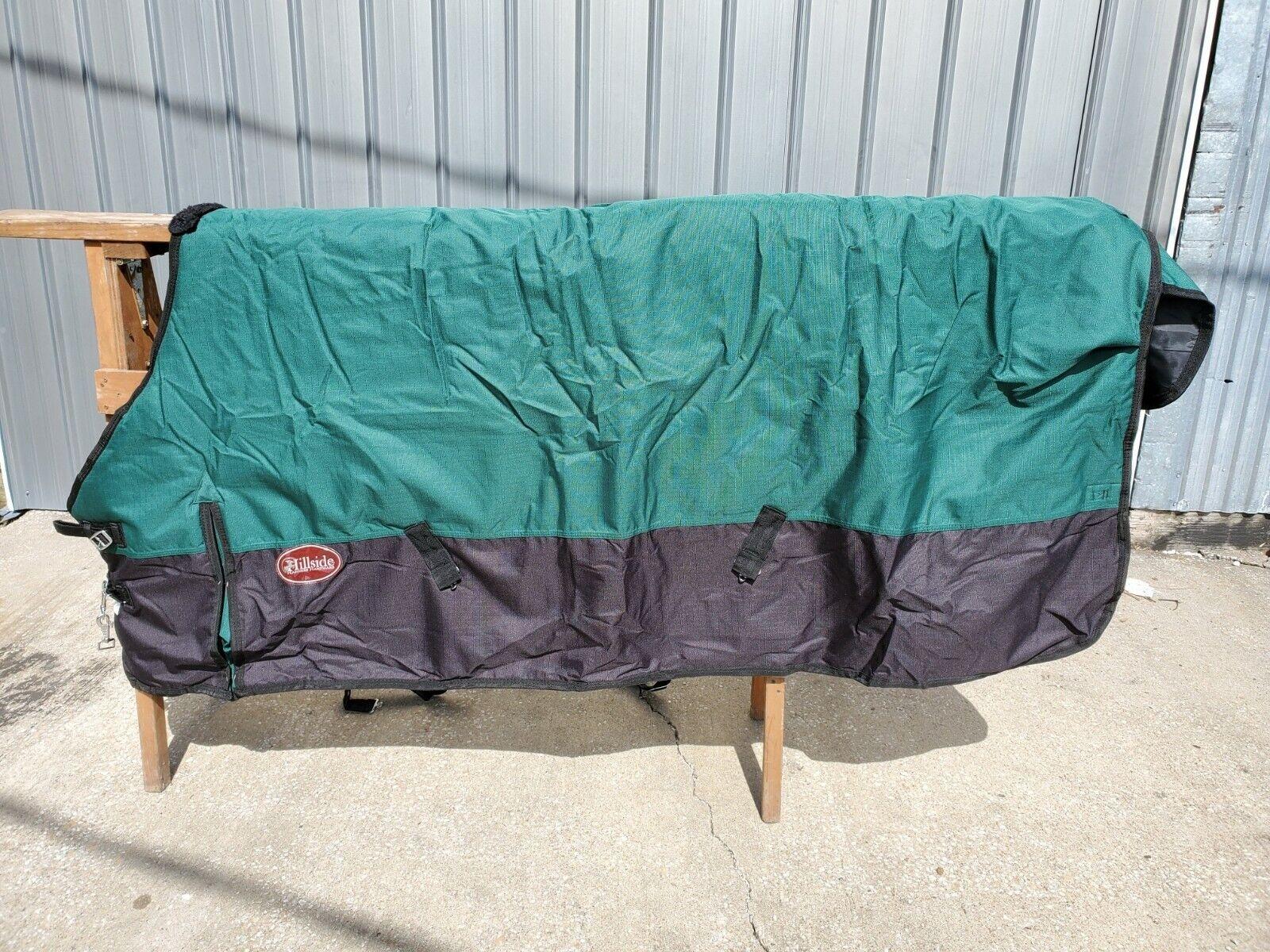 Premium Draft cavallo waterproof blanket by Hillside blu, verde, Burgundy 90 96