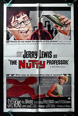 THE NUTTY PROFESSOR * CineMasterpieces 1SH ORIGINAL MOVIE POSTER JERRY LEWIS