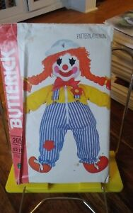 Vtg-Butterick-205-Childs-learning-toy-Clown-doll-24-034-pattern-transfers-NEW