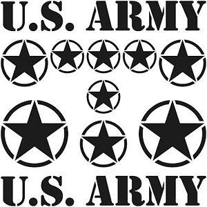 NEGRO-MATE-EE-UU-Estrellas-amp-Fuente-US-Army-Navy-Pegatina-de-coche-tatuaje