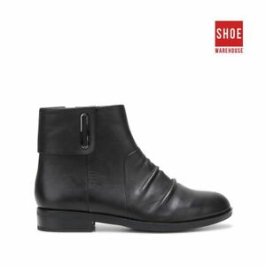 Hush Puppies HARRIET Black Womens Ankle Boot Casual Leather Boots