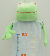 """Noukie's Green Frog Hanging Wall Blue Growth Chart 24""""- 60"""" Nursery Decor"""