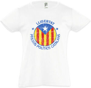 LLIBERTAT-CATALONIA-Kinder-Maedchen-T-Shirt-Freedom-for-Free-Katalonien-Fahne