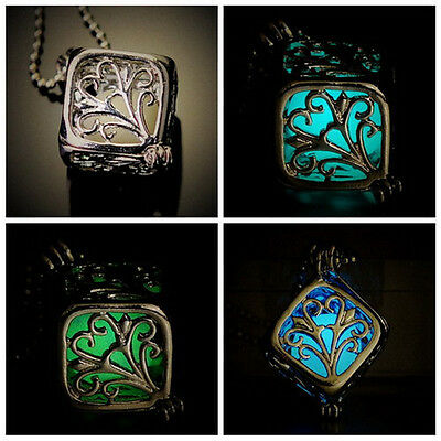 Best Gift Chic Cube Pendant the Little Mermaid's Teardrop Glow in Dark Necklace