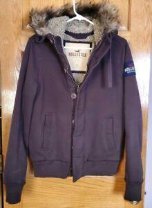 Hollister Mens Brown Faux Fur Lined Sherpa Heavy Hoodie ...