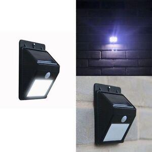 Dynamique New Solaire Pir Motion Sensor Security Nfixup Wall Light Outdoor Garden Bright White-afficher Le Titre D'origine