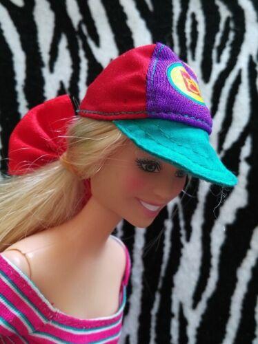Pick Your Fav! Vintage 1//6 Barbie Hat Beret Cap Crochet Knit Denim Look