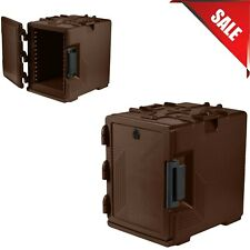 Upcs400 Commercial Dark Brown Ultra Food Pan Carrier Box With Menu Clip Pocket
