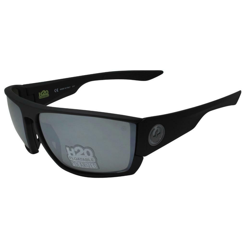 Cutback de Dragón gafas de sol H2O Negro Mate Polarizado Lente ion de plata 35143-006