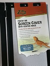 Zilla R SRZ100011875 Fresh Air Screen Cover with Hinged Door for Pet Cages 30-1//4 by 12-7//8-Inch Black