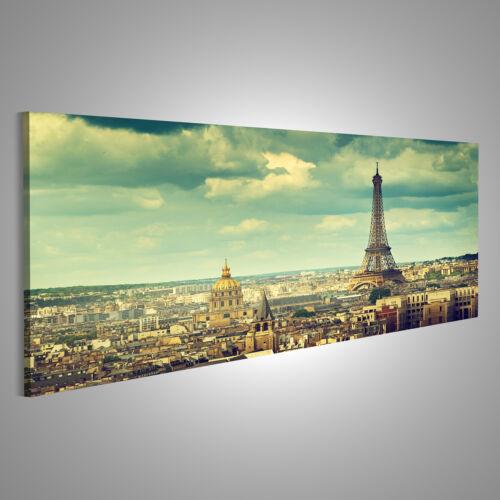 Eiffelturm Paris Bild auf Leinwand XXL Bilder ACR-Pano
