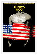 "Cuban decor Graphic Design movie Poster 4 film""PUERTO RICO""American Flag art"