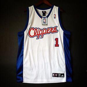9fb784634ac 100% Authentic Baron Davis Clippers NBA Adidas Jersey Size L 44 Mens ...