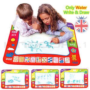 Enfants-jouet-eau-dessin-ecriture-peinture-tapis-board-2-magic-stylos-doodle-mat