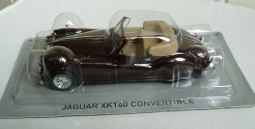 NEW IN BLISTER PACK DE AGOSTINI SUPERCARS 1:43 JAGUAR XK140 CONVERTIBLE