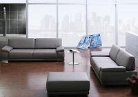 Sofa Couch Sofagarnitur Wohnlandschaft 3er +2,5 Sitzer mit Armteil Funktion NEU
