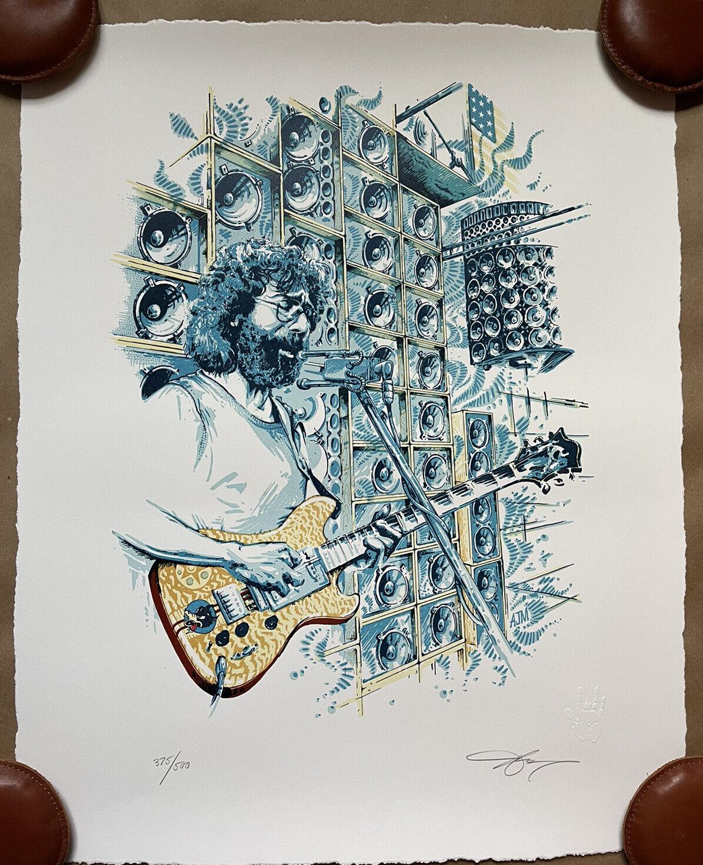 "AJ MASTHAY ""STELLA BLUE"" LETTERPRESS PRINT POSTER JERRY GARCIA S/N X/500 on eBay thumbnail"