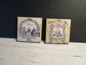 Doux 2 Maison De Poupées Miniature Vintage Mercerie Magasins Photos Bb-afficher Le Titre D'origine