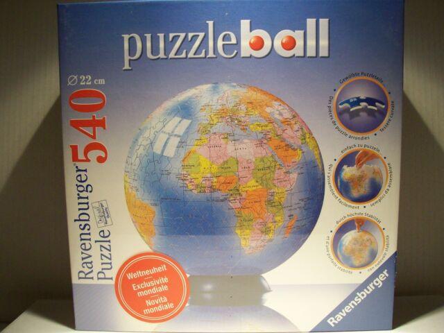 PUZZLE BALL die ERDE  540 Teile 11 061 2 Ravensburger 22 cm Durchmesser komplett Puzzles & Geduldspiele