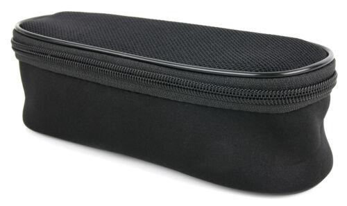 Noir Rembourré Rasoir cas avec Netted côtés pour Braun Series 3 310