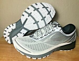 7eb0d4b75521f0 Brooks Ghost 10 Mens Running Shoes DNA White Silver Black SZ New ...
