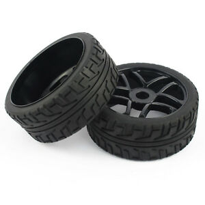 NEW-4Pcs-1-8-RC-Buggy-Tires-Hex-17mm-Wheels-for-On-Road-RC-Car-Truck