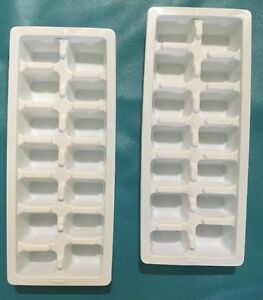 ECONOMY-EASY-RELEASE-WHITE-ICE-CUBE-TRAY-SET-OF-2-NEW-FAST-SHIPPING