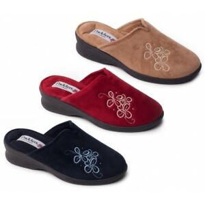 7f712853705e Padders SABLE Ladies Womens Microsuede Extra Wide (2E) Slip On Mule ...