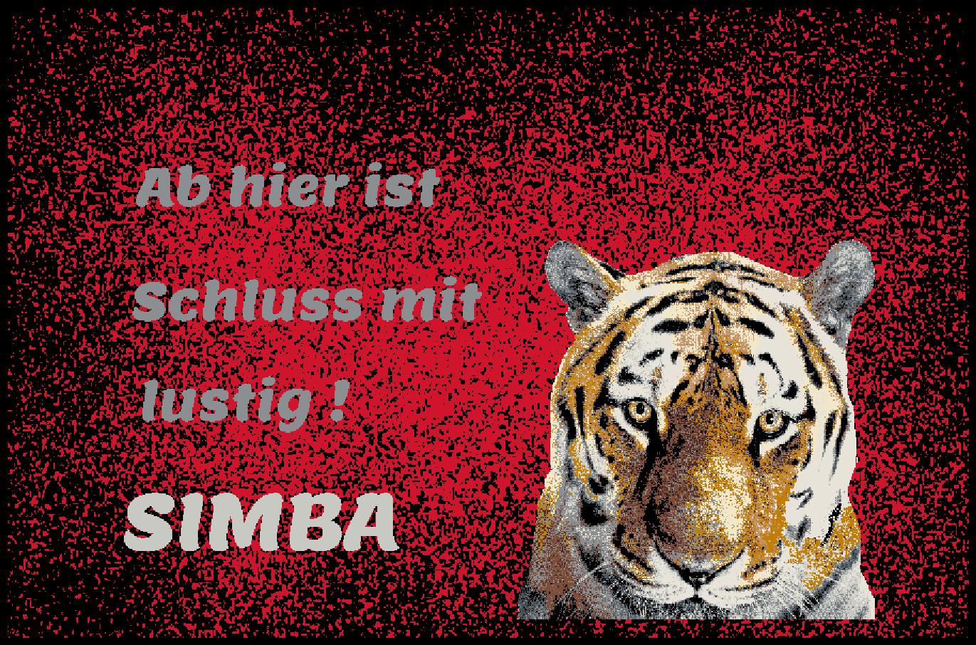 Fußmatte Schmutzfangmatte waschbar Gummirand 90x60 90x60 90x60 cm Wunschname Tiger 43fb26