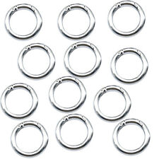 5pcs circle metal carabiner hook snap round clip hook keychain outdoor 35mm  J7