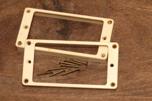 Aged Humbucker Bone White curved Mounting Rings incl Mounting Screws