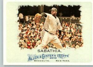 2011 Allen & Ginter # 214 CC Sabathia- New York Yankees