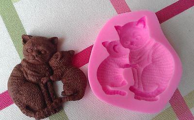 Silikon Ausstechform Backform Fondant Tortendeko Form Katzen Baby Kätzchen