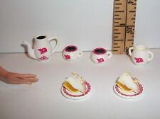 HANDMADE FOR BARBIE MONSTER HIGH COFFEE & LEMON MERINGUE PIE 1/6 SCALE FOOD #6