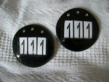 2 PATENT Leather BLING Bridle Number Holders*Shows/Dressage/Competitions*BLACK