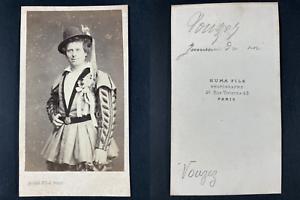 Numa, Paris, Vouzez, comédien dans Jumeau du roi Vintage cdv albumen print CDV