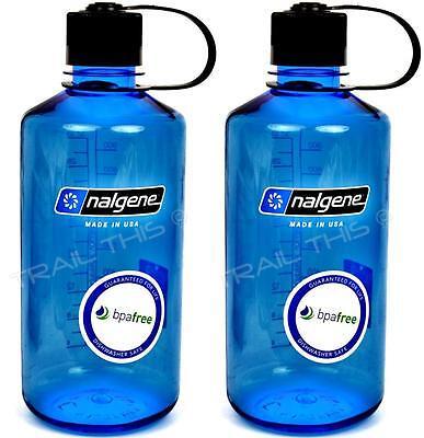 Nalgene 32oz Tritan NM Water Bottle BPA Free Backpacking - Slate Blue
