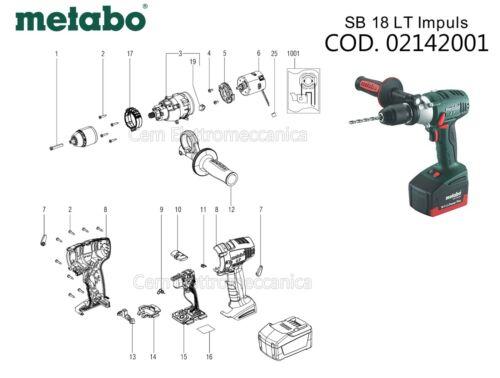 02142001 motore Ricambi originali per avvitatore METABO SB 18 LT Impuls codice